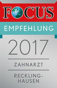 Das Praxisteam freut sich über die Focus-Empfehlung 2017
