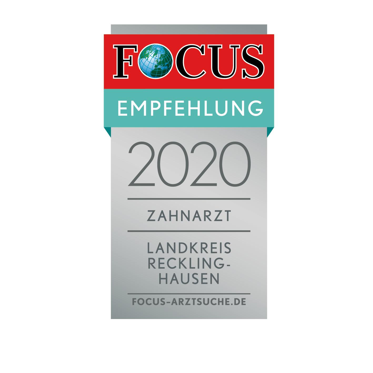 Focus Empfehlungssiegel 2020